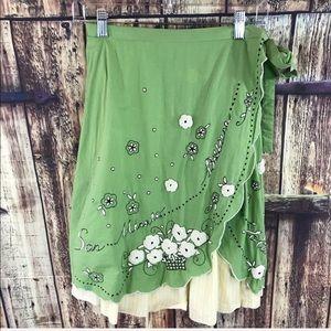 Odille faux wrap skirt